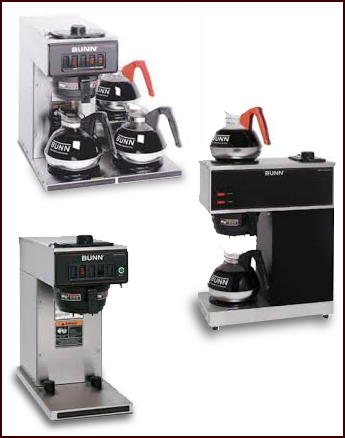 Single and Triple Coffee Pot Machines